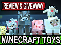 Jazwares Minecraft toys Series 2 Animal Mobs Review and Giveaway!