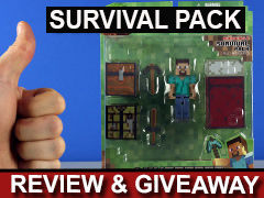 Minecraft Overworld Survival Pack Steve Review and Giveaway