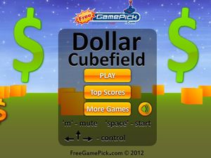 Dollar Cubefield screenshot
